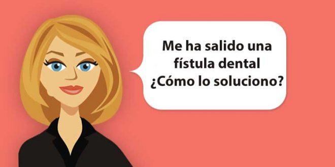 fístula dental bulto encía